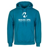 Maricopa Comm Heathered Sapphire Fleece Hoodie-Primary Mark Stacked