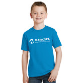 Maricopa Comm Youth Sapphire T Shirt-Primary Mark