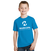 Maricopa Comm Youth Sapphire T Shirt-Primary Mark Stacked