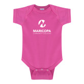Maricopa Comm Fuchsia Infant Onesie-Primary Mark Stacked