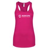 Maricopa Comm Next Level Ladies Raspberry Ideal Racerback Tank-Primary Mark