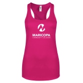 Maricopa Comm Next Level Ladies Raspberry Ideal Racerback Tank-Primary Mark Stacked