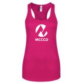 Maricopa Comm Next Level Ladies Raspberry Ideal Racerback Tank-Acronym
