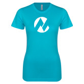Maricopa Comm Next Level Ladies SoftStyle Junior Fitted Ice Blue Tee-Icon