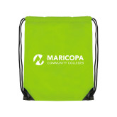 Maricopa Comm Lime Green Drawstring Backpack-Primary Mark