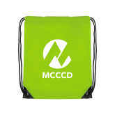 Maricopa Comm Lime Green Drawstring Backpack-Acronym