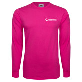 Maricopa Comm Hot Pink Long Sleeve T Shirt-Primary Mark