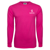 Maricopa Comm Hot Pink Long Sleeve T Shirt-Primary Mark Stacked