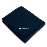 Maricopa Comm Navy Arctic Fleece Blanket-Primary Mark