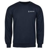 Maricopa Comm Navy Fleece Crew-Primary Mark