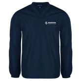 Maricopa Comm V Neck Navy Raglan Windshirt-Primary Mark