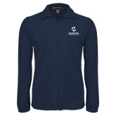 Maricopa Comm Fleece Full Zip Navy Jacket-Primary Mark Stacked