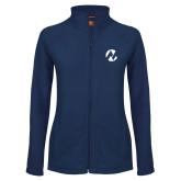 Maricopa Comm Ladies Fleece Full Zip Navy Jacket-Icon