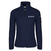 Maricopa Comm Columbia Ladies Full Zip Navy Fleece Jacket-Primary Mark