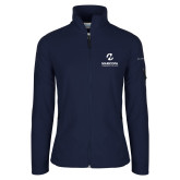 Maricopa Comm Columbia Ladies Full Zip Navy Fleece Jacket-Primary Mark Stacked