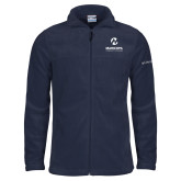 Maricopa Comm Columbia Full Zip Navy Fleece Jacket-Primary Mark Stacked