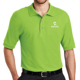 Maricopa Comm Lime Green Easycare Pique Polo-Primary Mark Stacked