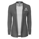 Maricopa Comm Ladies Heather Grey Open Front Cardigan-Primary Mark Stacked