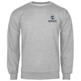 Maricopa Comm Grey Fleece Crew-Primary Mark Stacked