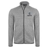 Maricopa Comm Grey Heather Fleece Jacket-Primary Mark Stacked