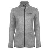 Maricopa Comm Grey Heather Ladies Fleece Jacket-Primary Mark