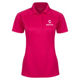 Maricopa Comm Ladies Pink Raspberry Dry Mesh Pro Polo-Primary Mark Stacked