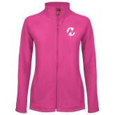 Maricopa Comm Ladies Fleece Full Zip Raspberry Jacket-Icon