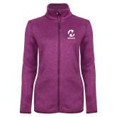 Maricopa Comm Dark Pink Heather Ladies Fleece Jacket-Acronym