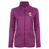 Maricopa Comm Dark Pink Heather Ladies Fleece Jacket-Icon