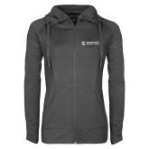 Maricopa Comm Ladies Sport Wick Stretch Full Zip Charcoal Jacket-Primary Mark