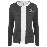 Maricopa Comm Ladies Charcoal Cardigan-Primary Mark Stacked