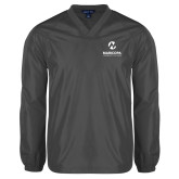 Maricopa Comm V Neck Charcoal Raglan Windshirt-Primary Mark Stacked
