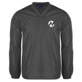 Maricopa Comm V Neck Charcoal Raglan Windshirt-Icon