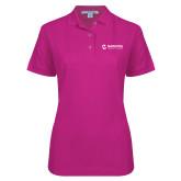 Maricopa Comm Ladies Easycare Tropical Pink Pique Polo-Primary Mark