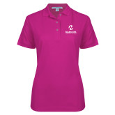 Maricopa Comm Ladies Easycare Tropical Pink Pique Polo-Primary Mark Stacked