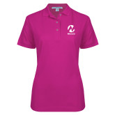 Maricopa Comm Ladies Easycare Tropical Pink Pique Polo-Acronym