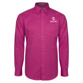 Maricopa Comm Tropical Pink Twill Button Down Long Sleeve-Primary Mark Stacked