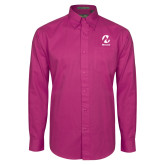 Maricopa Comm Tropical Pink Twill Button Down Long Sleeve-Acronym