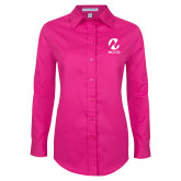 Maricopa Comm Ladies Tropical Pink Long Sleeve Twill Shirt-Acronym