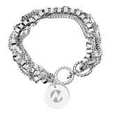 Maricopa Comm Olivia Sorelle Silver Round Pendant Multi strand Bracelet-Icon  Engraved