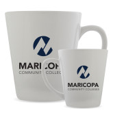 Maricopa Comm Full Color Latte Mug 12oz-Primary Mark Stacked