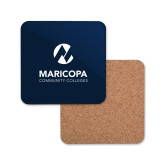 Maricopa Comm Hardboard Coaster w/Cork Backing-Primary Mark Stacked