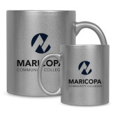 Maricopa Comm Full Color Silver Metallic Mug 11oz-Primary Mark Stacked