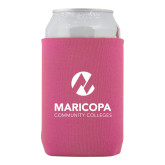 Maricopa Comm Collapsible Hot Pink Can Holder-Primary Mark Stacked
