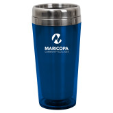 Maricopa Comm Solano Acrylic Blue Tumbler 16oz-Primary Mark Stacked