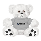 Maricopa Comm Plush Big Paw 8 1/2 inch White Bear w/Grey Shirt-Primary Mark