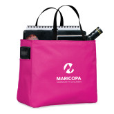 Maricopa Comm Tropical Pink Essential Tote-Primary Mark Stacked