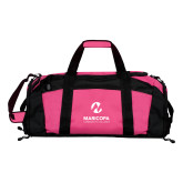 Maricopa Comm Tropical Pink Gym Bag-Primary Mark Stacked