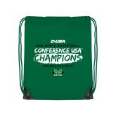 Kelly Green Drawstring Backpack-2018 Mens Basketball Champions - Brush