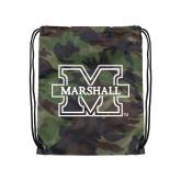 Nylon Camo Drawstring Backpack-M Marshall